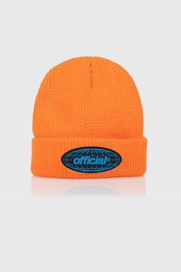 WRLD TAKEOVER BEANIE - ORANGE