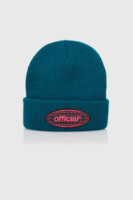 WRLD TAKEOVER BEANIE - DARK TEAL