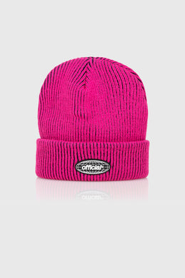 ACID WORLD 2-TONE BEANIE - FUSCHIA