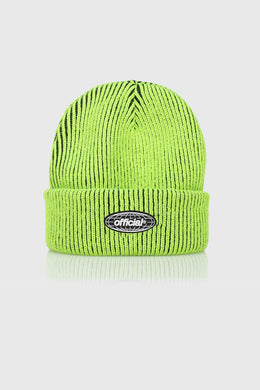 ACID WORLD 2-TONE BEANIE - VOLT GREEN