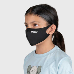 【KIDS SIZE】OFFICIAL NANO-POLYURETHANE FACE MASK  (BLACK)