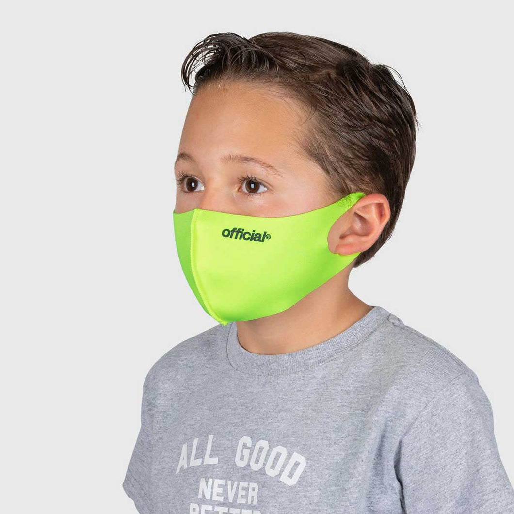 【KIDS SIZE】OFFICIAL NANO-POLYURETHANE FACE MASK (VOLT)