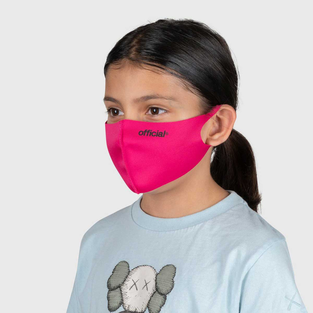 【KIDS SIZE】OFFICIAL NANO-POLYURETHANE FACE MASK (PINK)