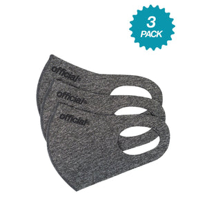 OFFICIAL 3 PACK - NANO-POLYURETHANE FACE MASK (HEATHER GREY)
