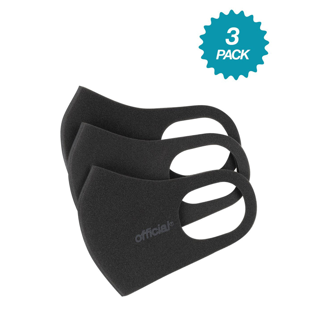 3 PACK OFFICIAL RPF FACE MASK (BLACK)