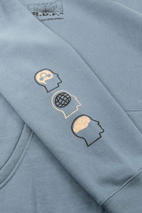 OFFICIAL REALITY DISTORTION FIELD HOODED SWEATSHIRT (SLATE BLUE)