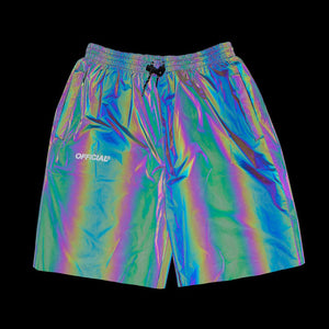 RFLCTIV Squid Ink Shorts Rainbow Reflective - Intense rainbow