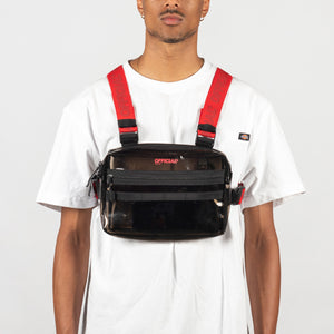 TRANSLUCENT CHEST UTILITY - BLACK/RED