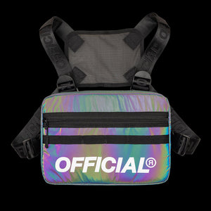 RFLCTIV Squid Ink Reflective Chest Utility - Intense rainbow
