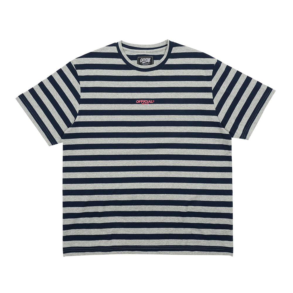 NEUE STRIPE T-SHIRT - GRY/NVY