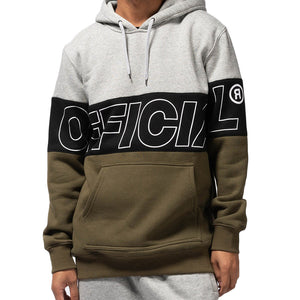 OFFICIAL BANDS HOODIE - GREY/BLK/OLIVE