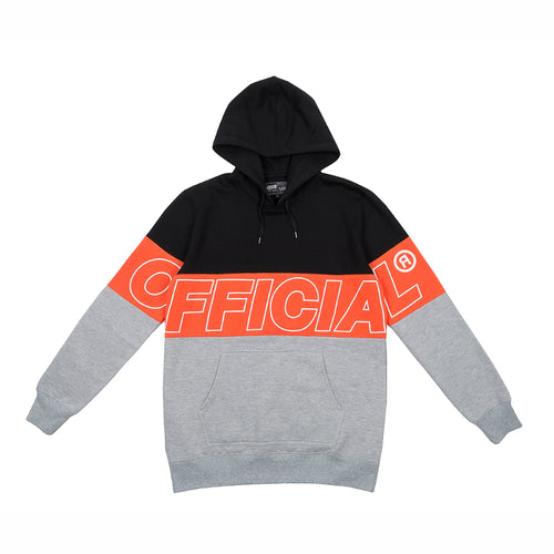 OFFICIAL BANDS HOODIE - BLK/ORANGE/GREY