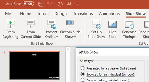 PowerPoint Slide Show Set Up