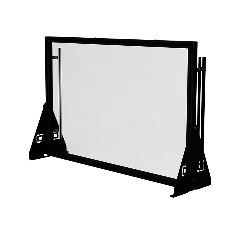 Extra Large 63 Inch Tabletop Lightboard With Presenter Lights Back Side