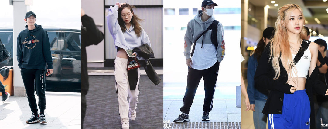 korean idol athleisure sweatpants