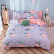 Be Happy Peach Bed Set