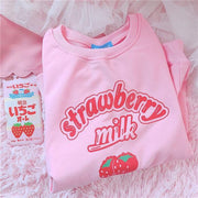 Harajuku Kawaii Strawberry Milk Sweatshirt