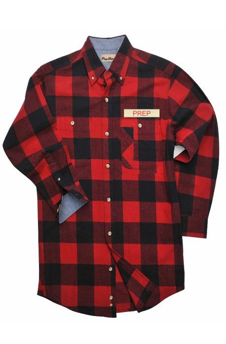 NAMEPLATE FLANNEL SHIRT