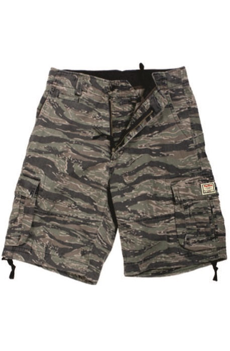 Rugged Infantry Tiger Camo Cargo Shorts