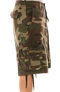 Rugged Infantry Camo Cargo Shorts