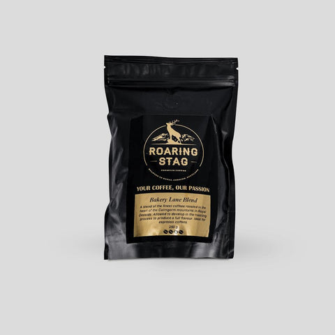 Bakery Lane blend Roaring Stag coffee