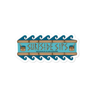 Surfside Sips Tiki Sticker