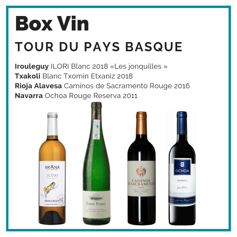 BOX Vin : Tour du Pays Basque