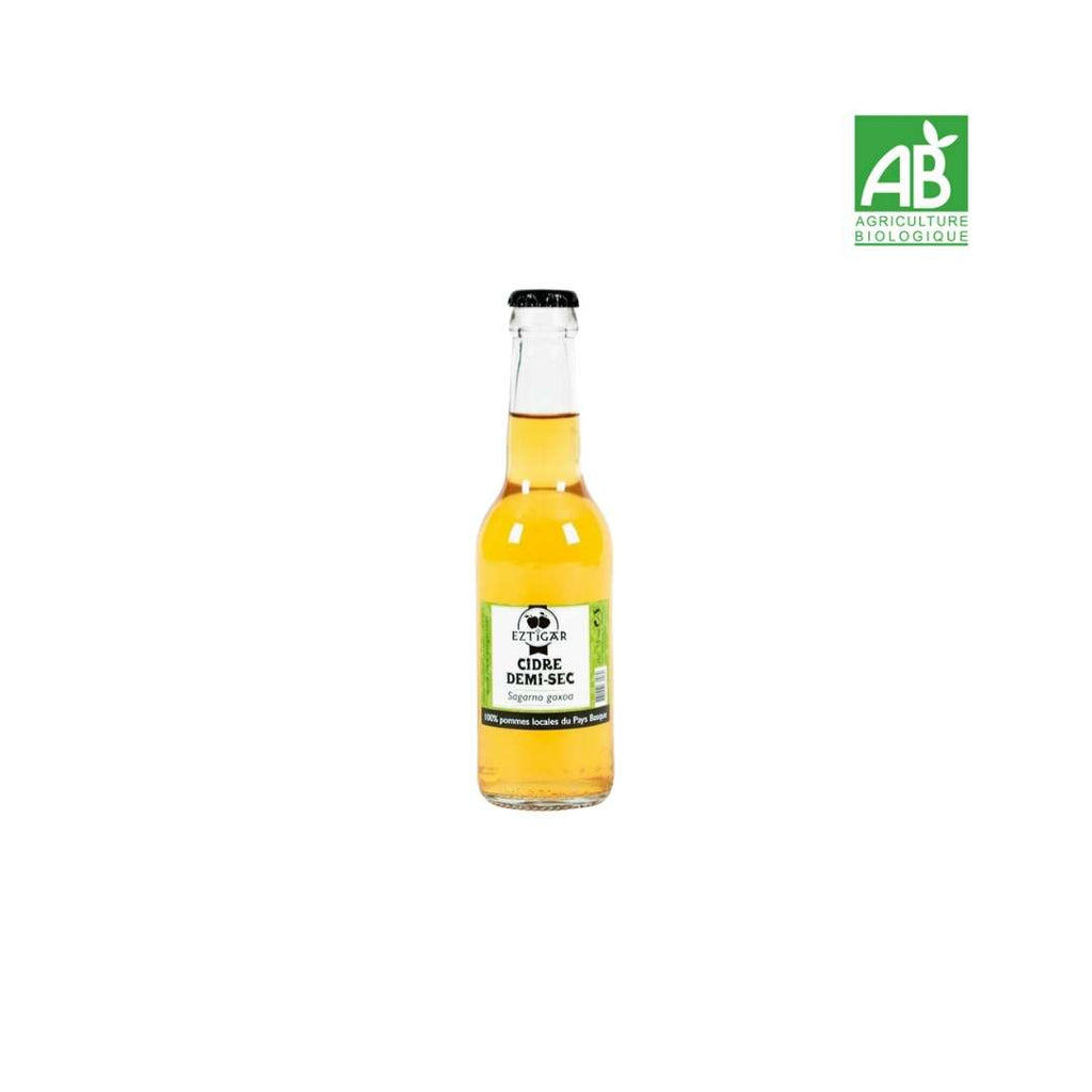 Cidre basque demi-sec by EZTIGAR - St Just Ibarre / Basse Navarre - Pays-Basque - FRESKOA STORE