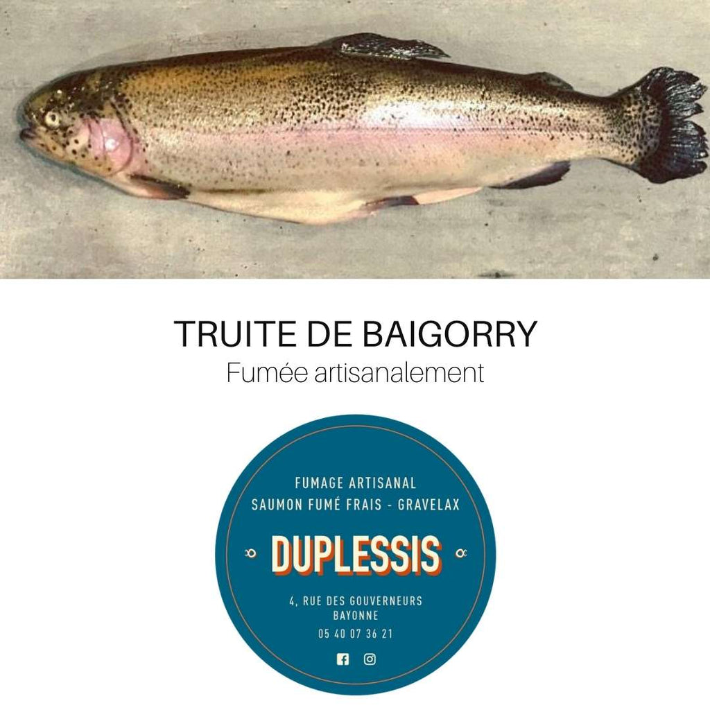 Truite fumée by DUPLESSIS – Bayonne / Labourd - Pays-Basque - FRESKOA STORE