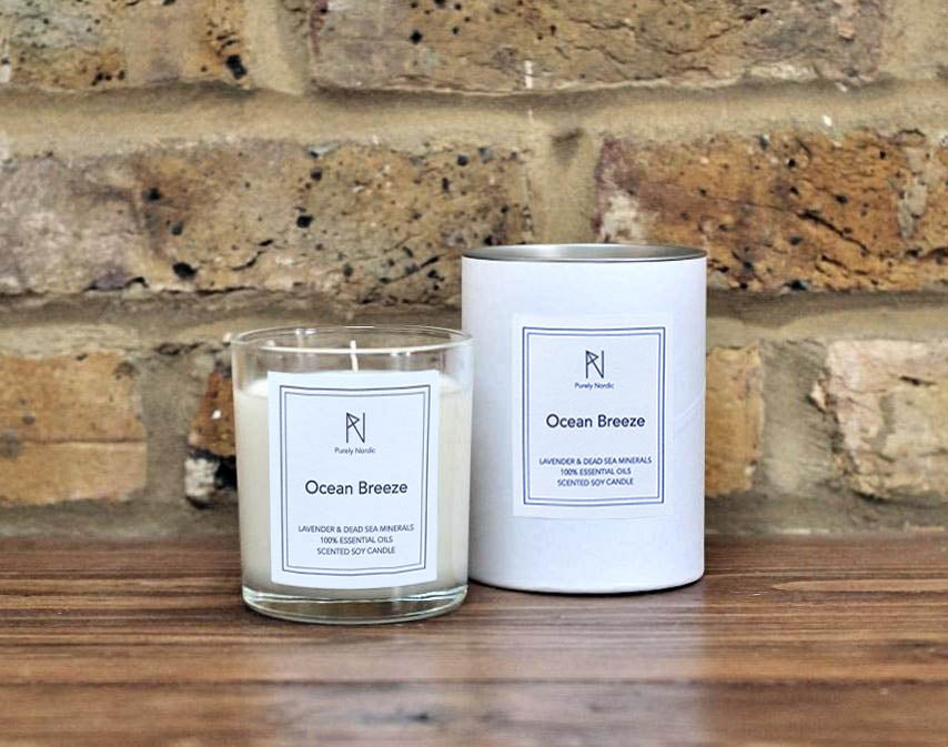 English Lavender & Dead Sea Minerals - Natural soy candle