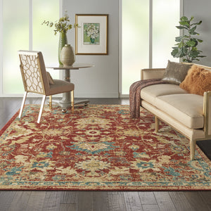 Nourison Traditional Antique TRQ02 Area Rug - Flooring Mats and Turf