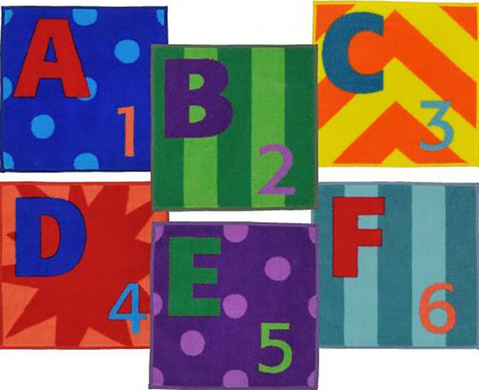 Letters & Numbers Sitting Squares™ - Flooring Mats and Turf