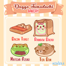 Load image into Gallery viewer, Doggo Tomodachi Bakery Glitter Sticker Pack (Breads)