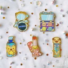Load image into Gallery viewer, Stars & Dreams Makeup Enamel Pin Value Set
