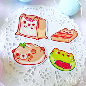 Doggo Tomodachi Bakery Glitter Sticker Pack (Breads)