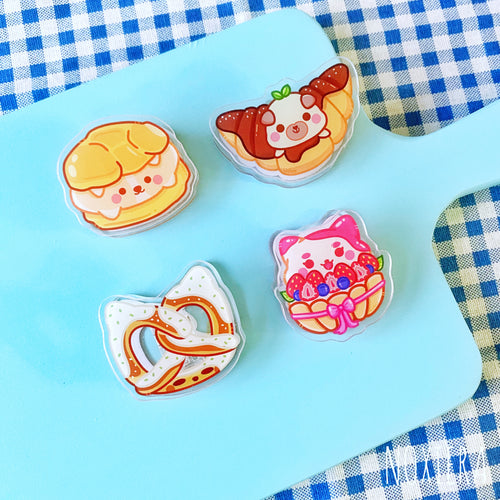 Bakery Acrylic Clips (Pastries)