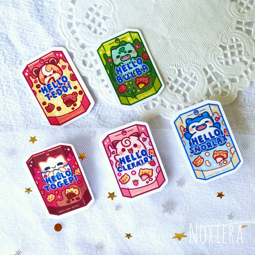 Hello-Poke Biscuit Sticker Pack