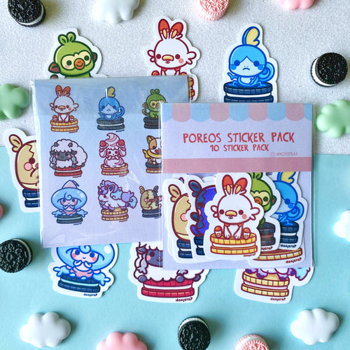 Poke-Poreos Sticker Pack