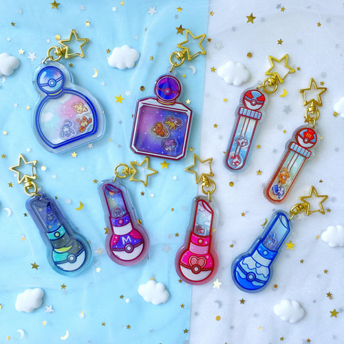 Poke-Makeup Shaker Charms