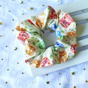 Fruity Drinkies Satin Scrunchie