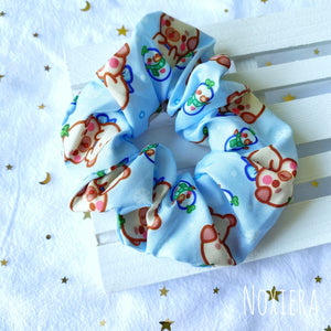 Four Seasons Satin Scrunchie (Winter Poppy)