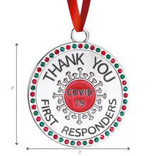 Load image into Gallery viewer, Thank You Covid 19 First Responders Christmas Ornament - Healthcare Workers Appreciation Gift for Christmas Tree - Quality Non-tarnish Metal