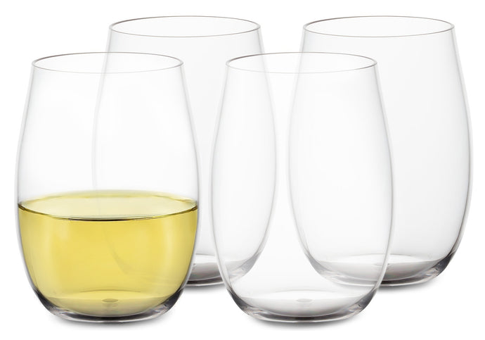 Plastic Stemless Wine Glasses - Dishwasher Safe Tritan - Outdoor Acrylic  Drinkware, Set of 4 - 16 Oz.