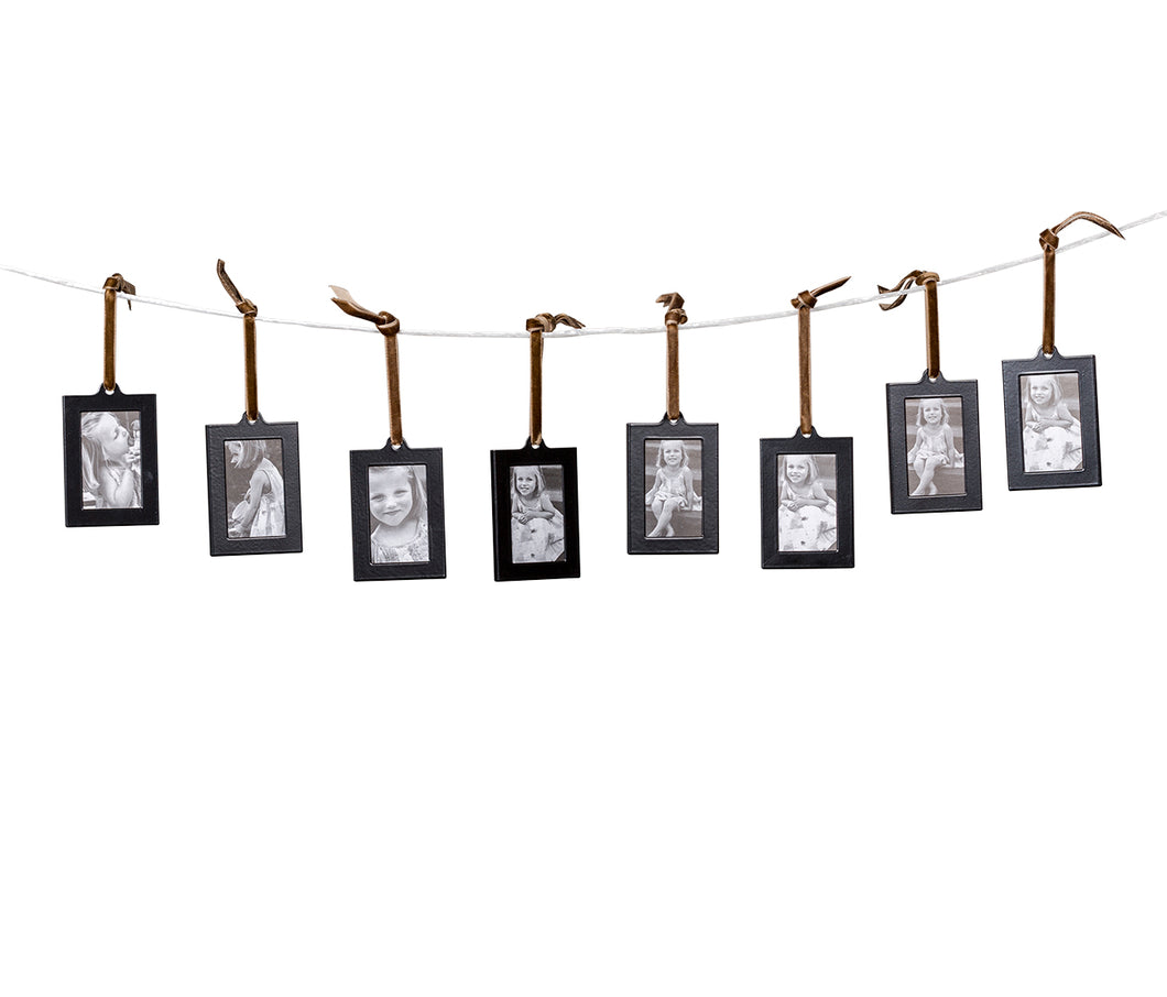Hanging Picture Frame Ornaments, Set of 8
