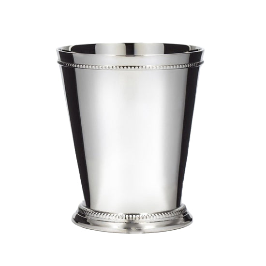 Mint Julep Cup - Moscow Mule - Kentucky Derby - Classic Beaded Trim Border –Stainless Steel 12oz Set Of 4