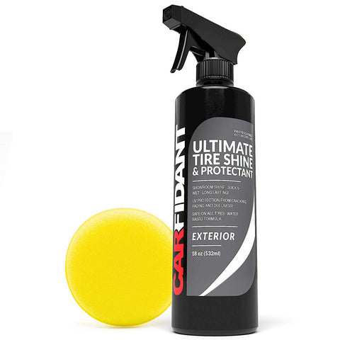 Carfidant Ultimate Tire Shine Spray - Tire Dressing & Protectant Kit - Dark, Wet Looking Wheels with No Grease and No Sling! - Carfidant