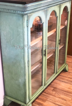 Custom Lighted Vintage Display Cabinet