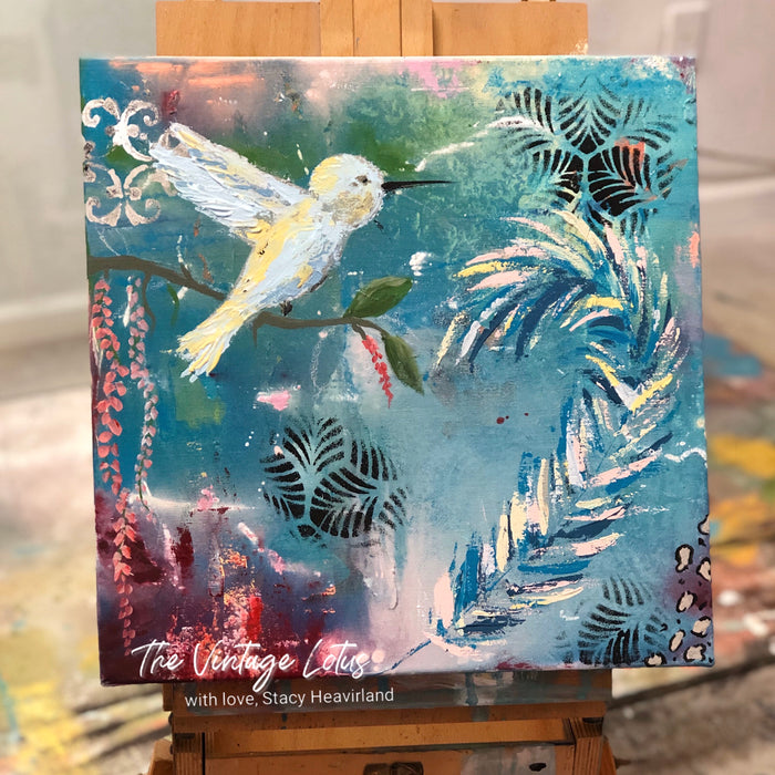 """Life In Flight' Original intuitive Art Painting"