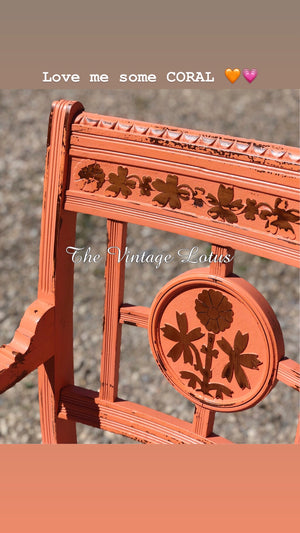 Vintage Coral Distressed Chair