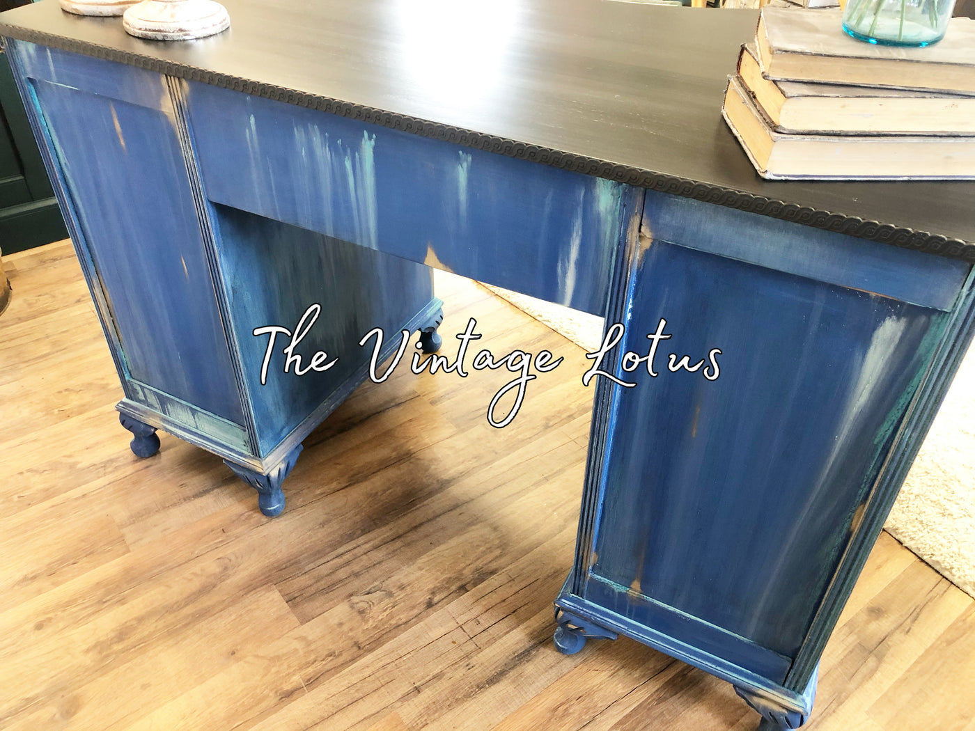 Boho Farmhouse Desk Vanity The Vintage Lotus